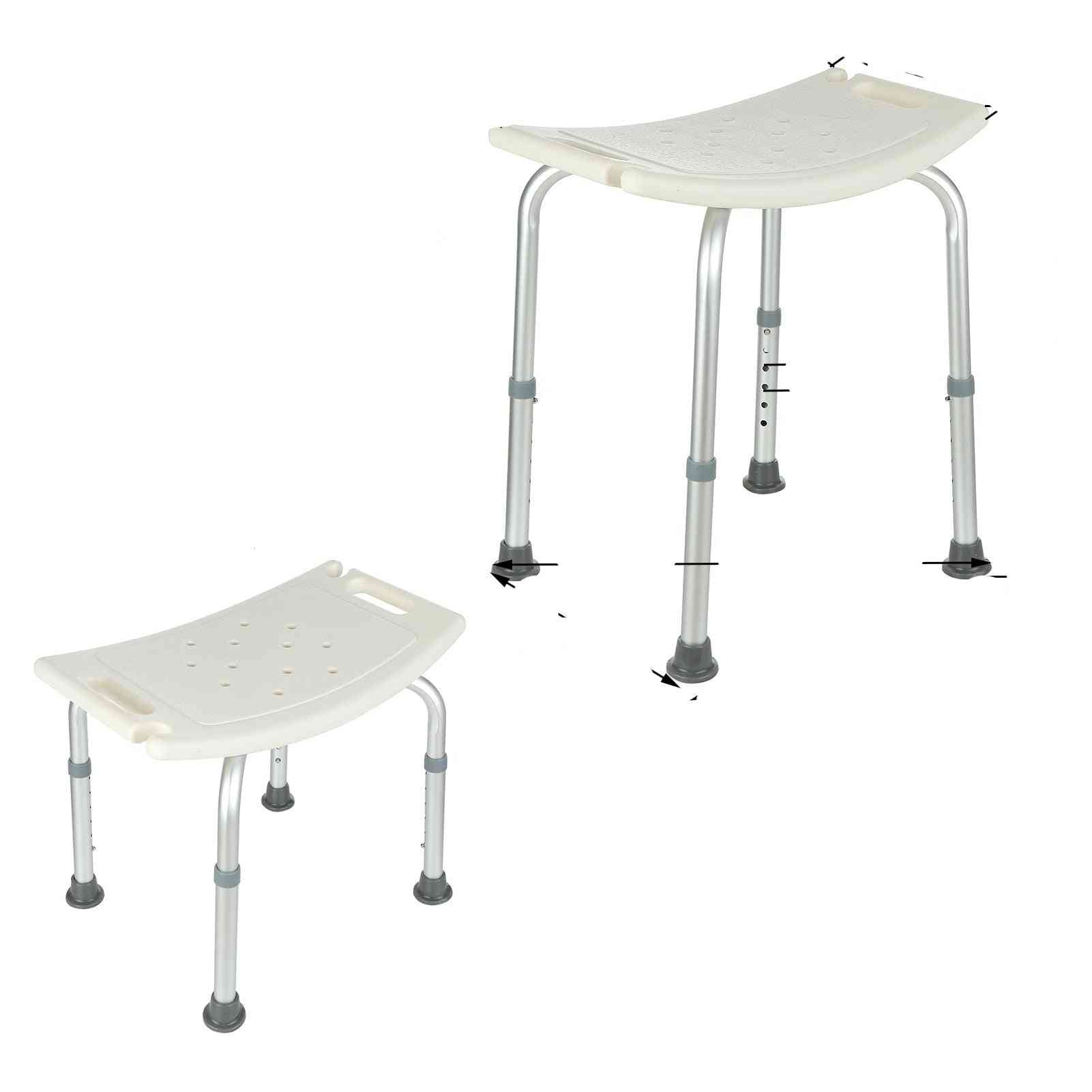 7 Gears Height Bathroom And Shower Chair Adjustable Bench Stool Seat