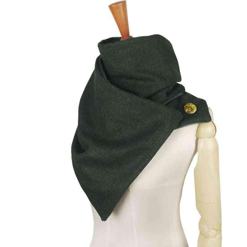 Fashion Winter Wool Cotton Unisex Herringbone Chevron Ring Scarf