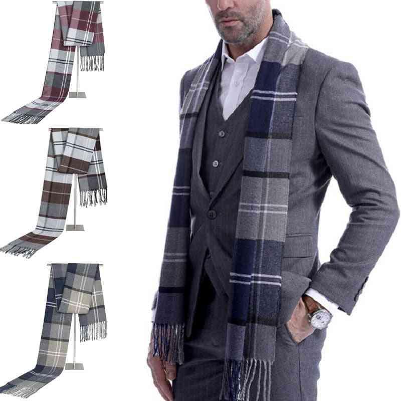 Scotland Soft Wool Check Plaid Winter Warm Shawl
