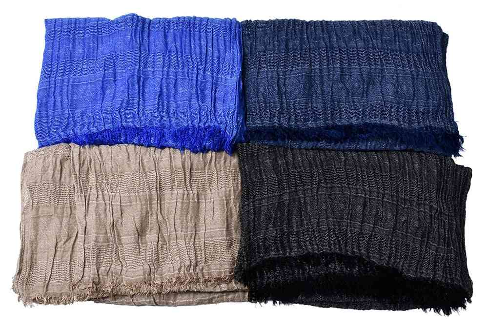 Jacquard Weave Long Scarfs With Tassels