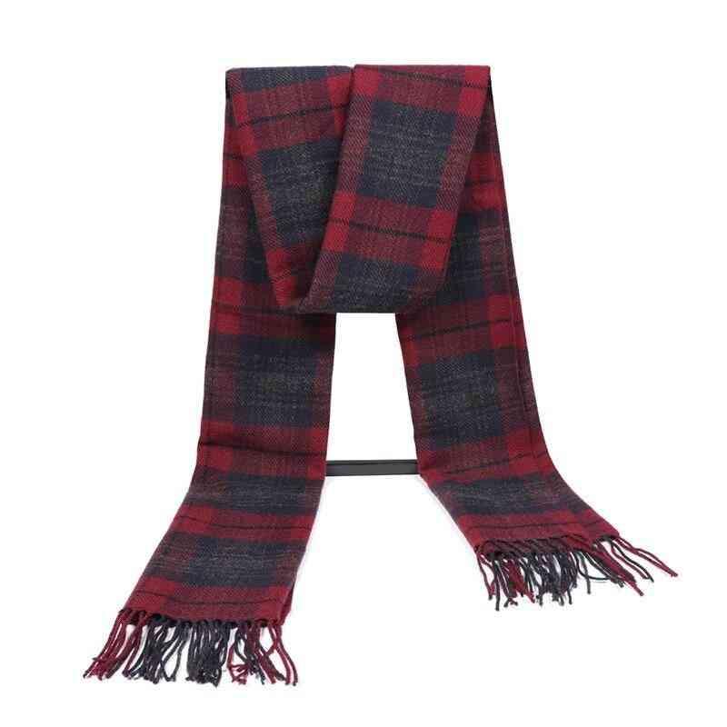 Cashmere Winter Warm Foulard Plaid Scarves
