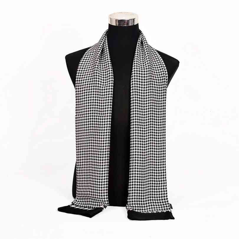 Autumn Winter Fashion Male Warm Navy Blue Long Silk Scarf