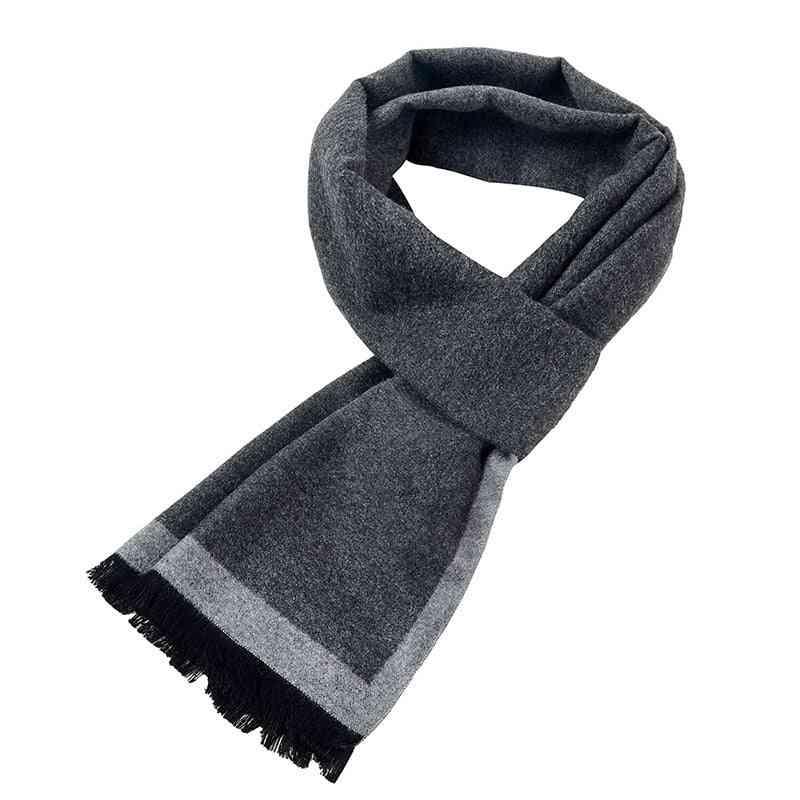 Winter Men's Plaid Cashmere Scarf