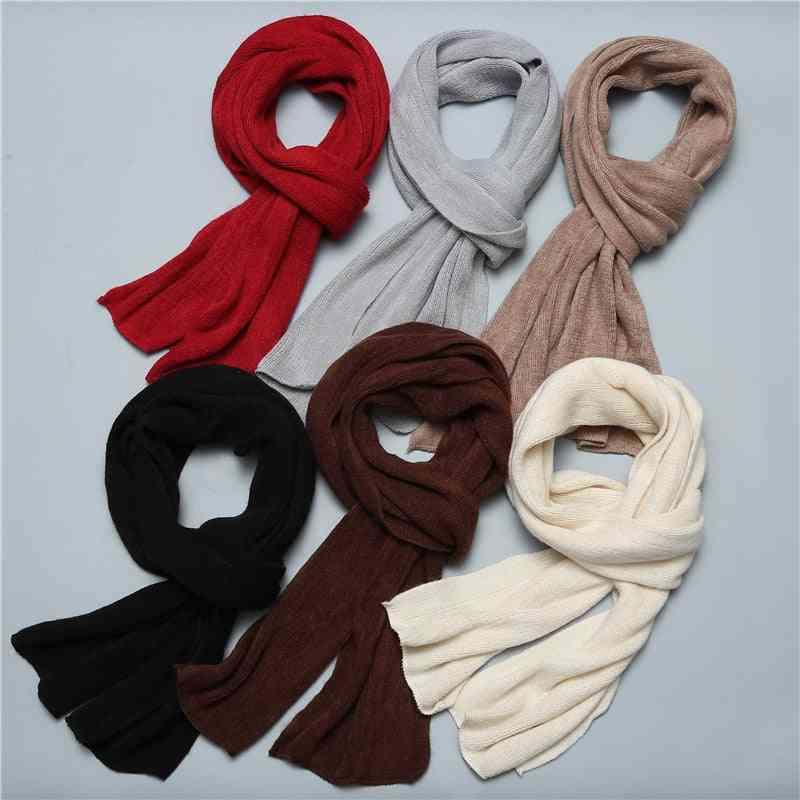 Knitted Winter Long Scarf