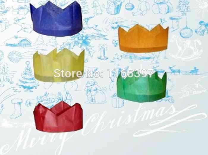 Tissue Paper Crown Cap Making Kits For Cracker Hat