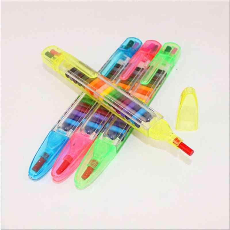 Children Painting Wax Crayon Creative Educational Oil Pen