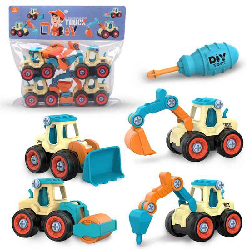Construction Toy Engineering Car Fire Truck Screw Build And Take Apart Great