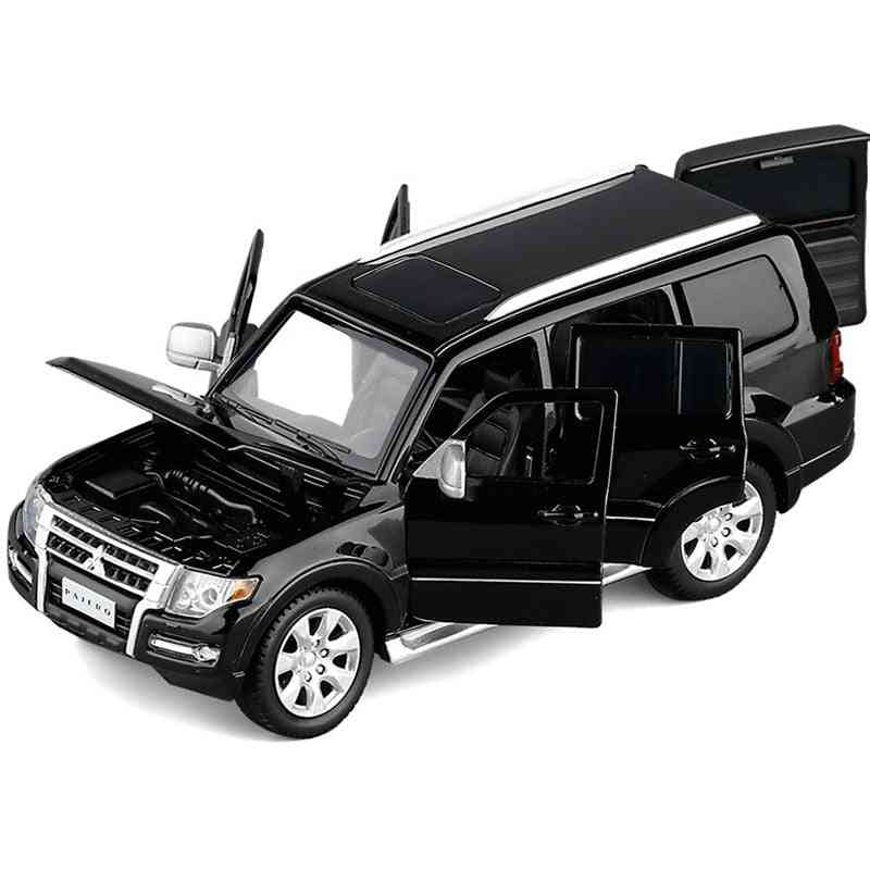 Suv Model Toy Car Alloy Die Cast Sound Light Steering Shock Off Road Vehicle