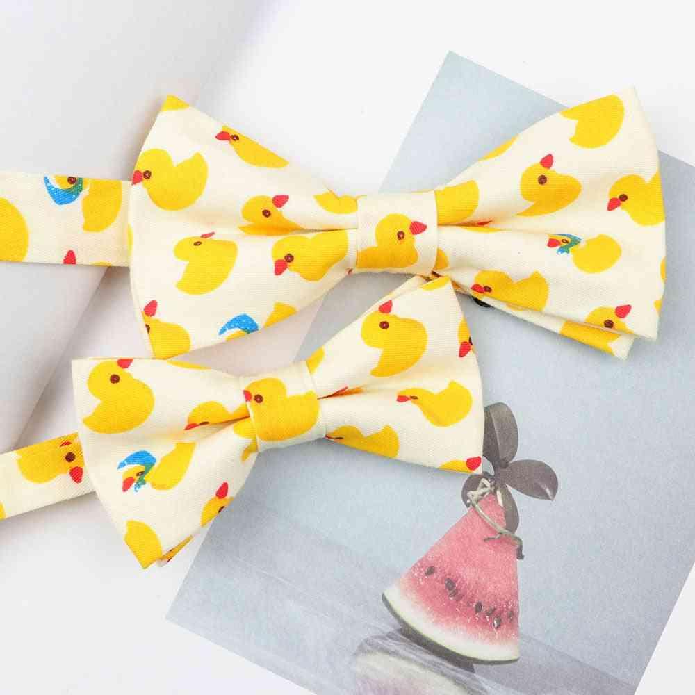 Cartoon Duck Fruits Animal Parent-child Bowtie Sets
