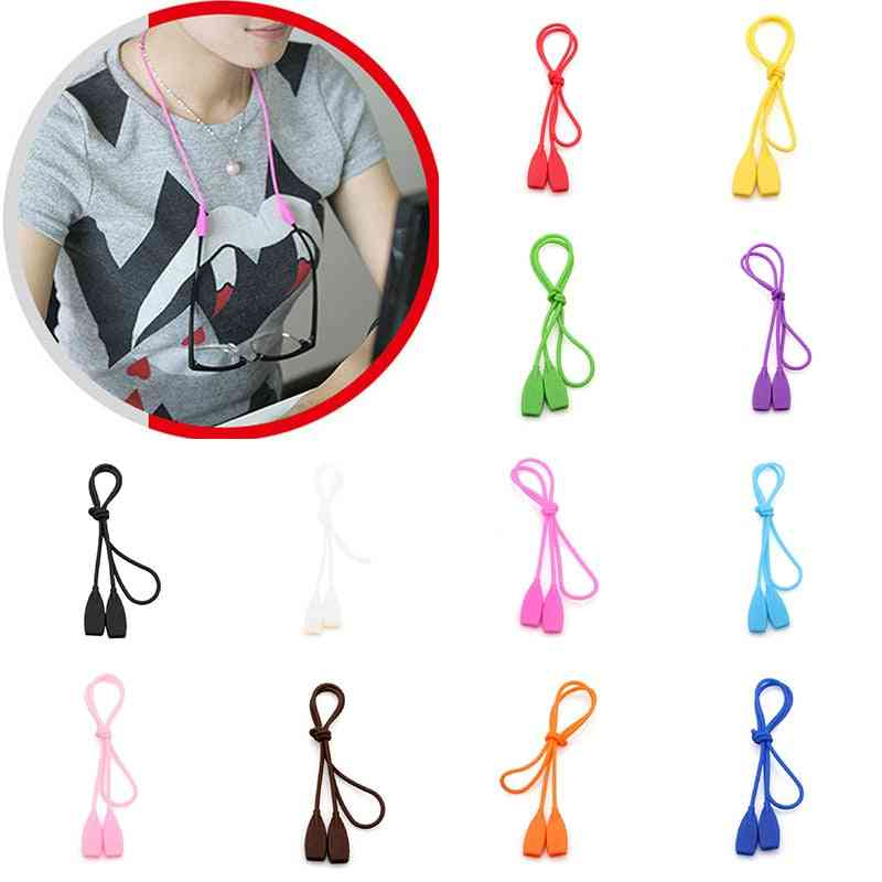 Candy Color Elastic Silicone Eyeglasses Chain