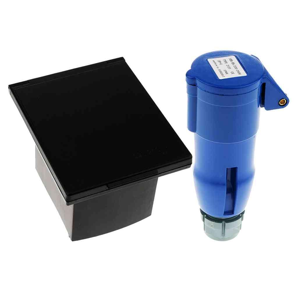 Mains 220v-240v 16a External Flush Hook Up Inlet Socket Waterproof Socket Plug