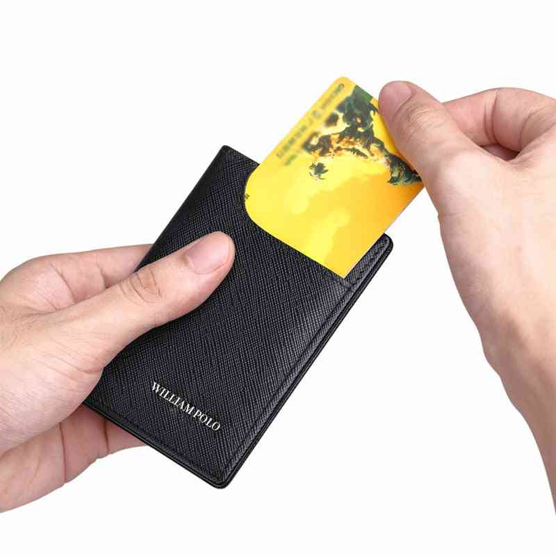 Card Holder Male Leather Vertical Ultra-thin Card Holder