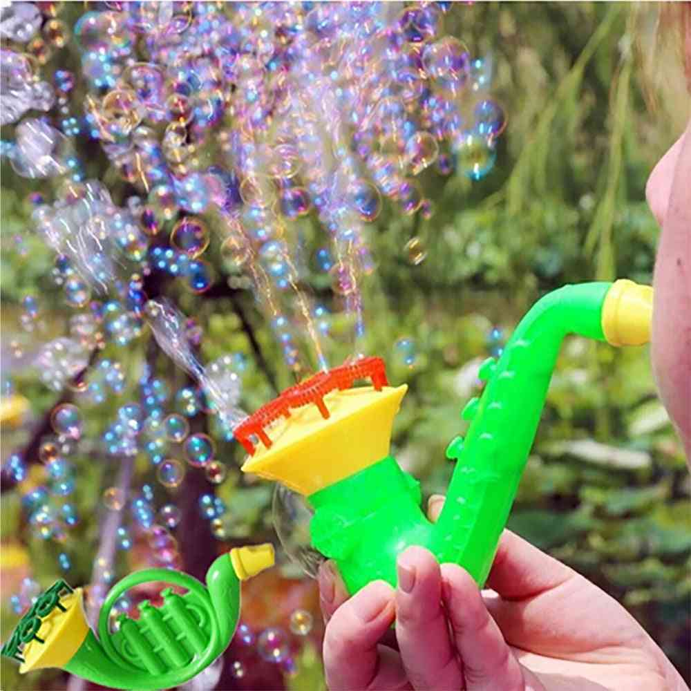 Random Water Blowing Bubble Soap Bubble Blower Outdoor Kids Parent-child Exchange Interactive Toy