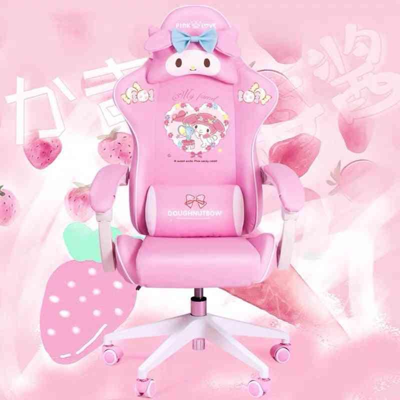 Wcg Gaming Chair Girls Cute Cartoon Computer Armchair & Lifting Adjustable Chair