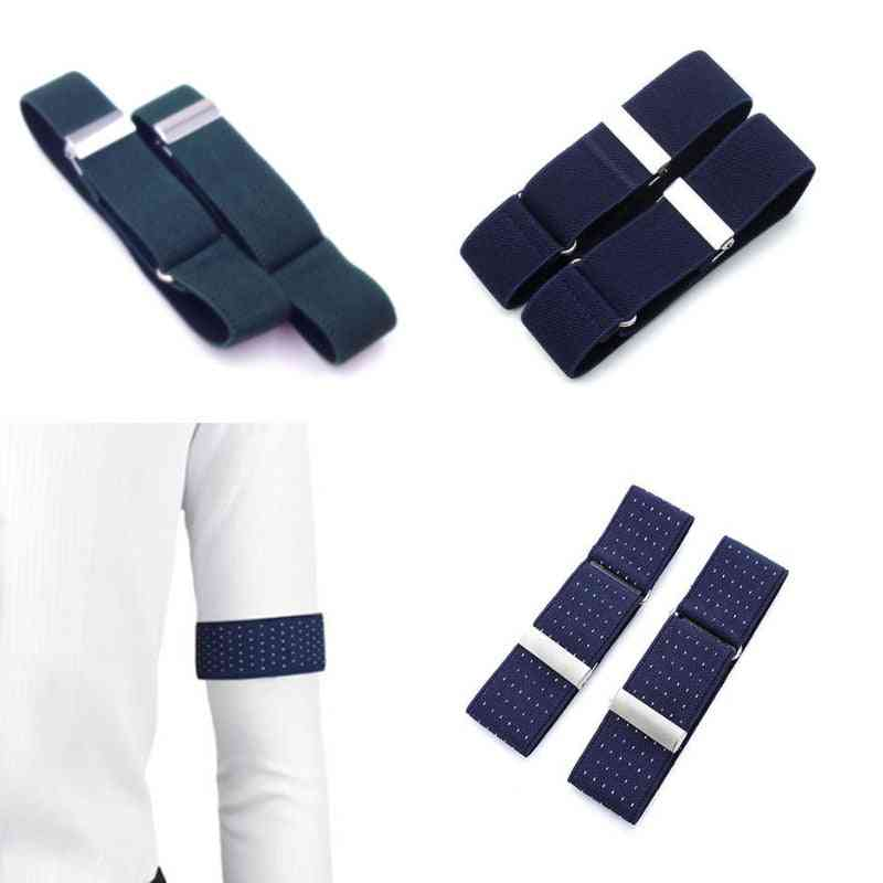 Elastic Shirt Sleeve Holder Adjustable Arm Band Arm Cuffs Bands