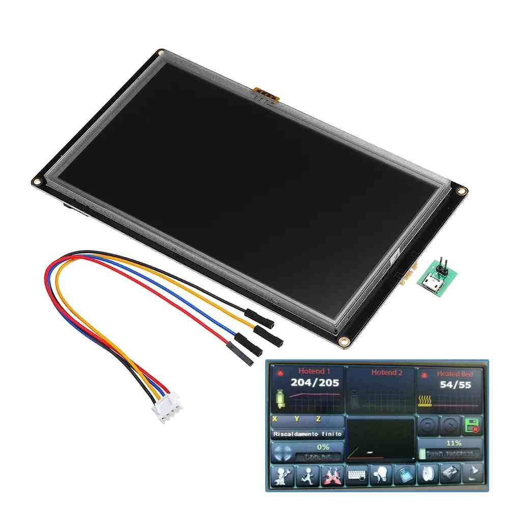 Enhanced Nx8048k070 7.0 Inch Hmi Intelligent Smart Usart Uart Serial Touch Tft Lcd Module Display Panel For Raspberry