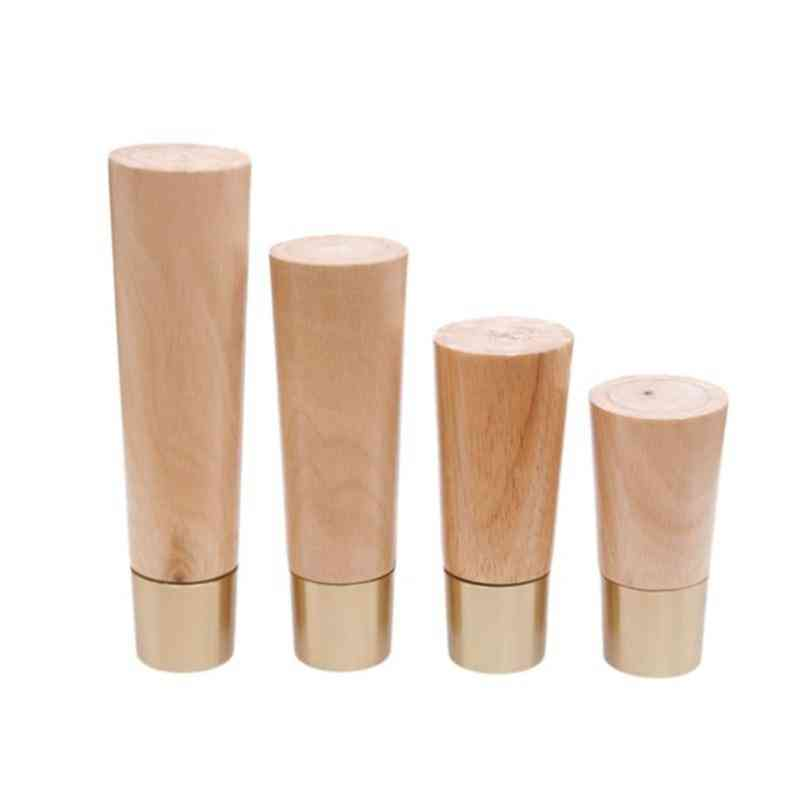 Solid Wooden Furniture Legs Straight Cone Sofa Table Feet