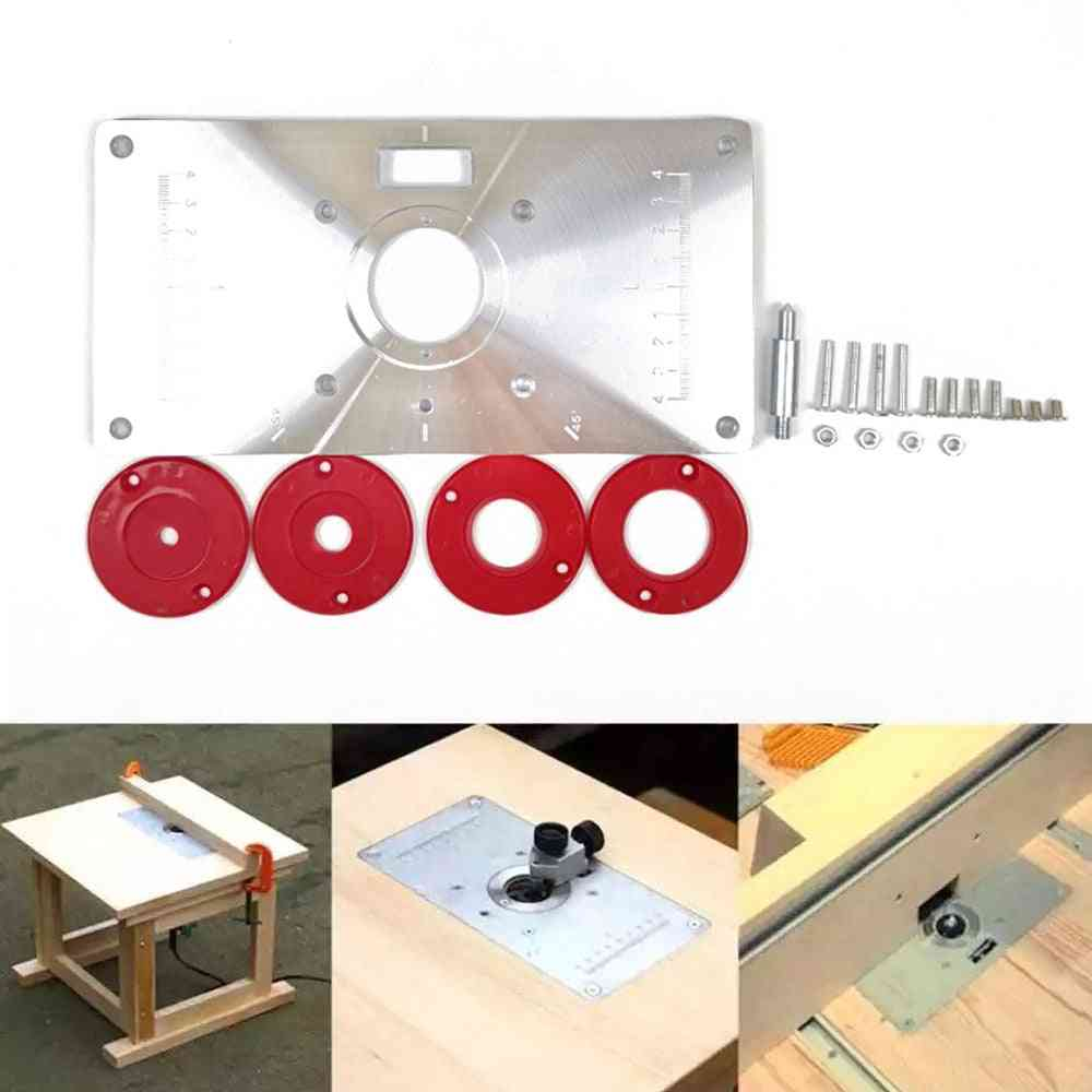 Router Table Insert Plate, Wood Router Trimmer Models Engraving Machine