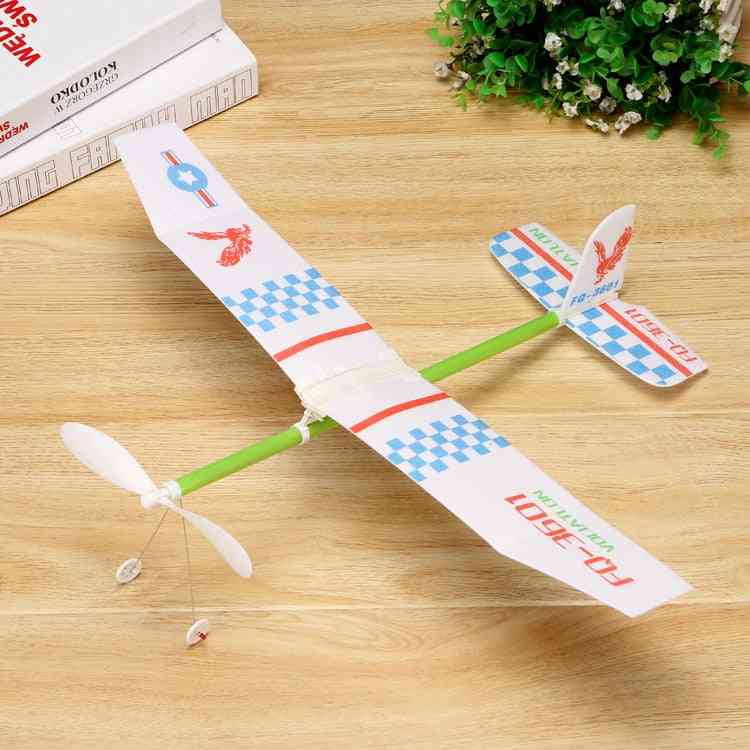 Rubber Bands Power Planes, Hand Launch Throwing, Foam Inertial Glider, Aircraft Outdoor For Child, Kids, Christmas Gifts