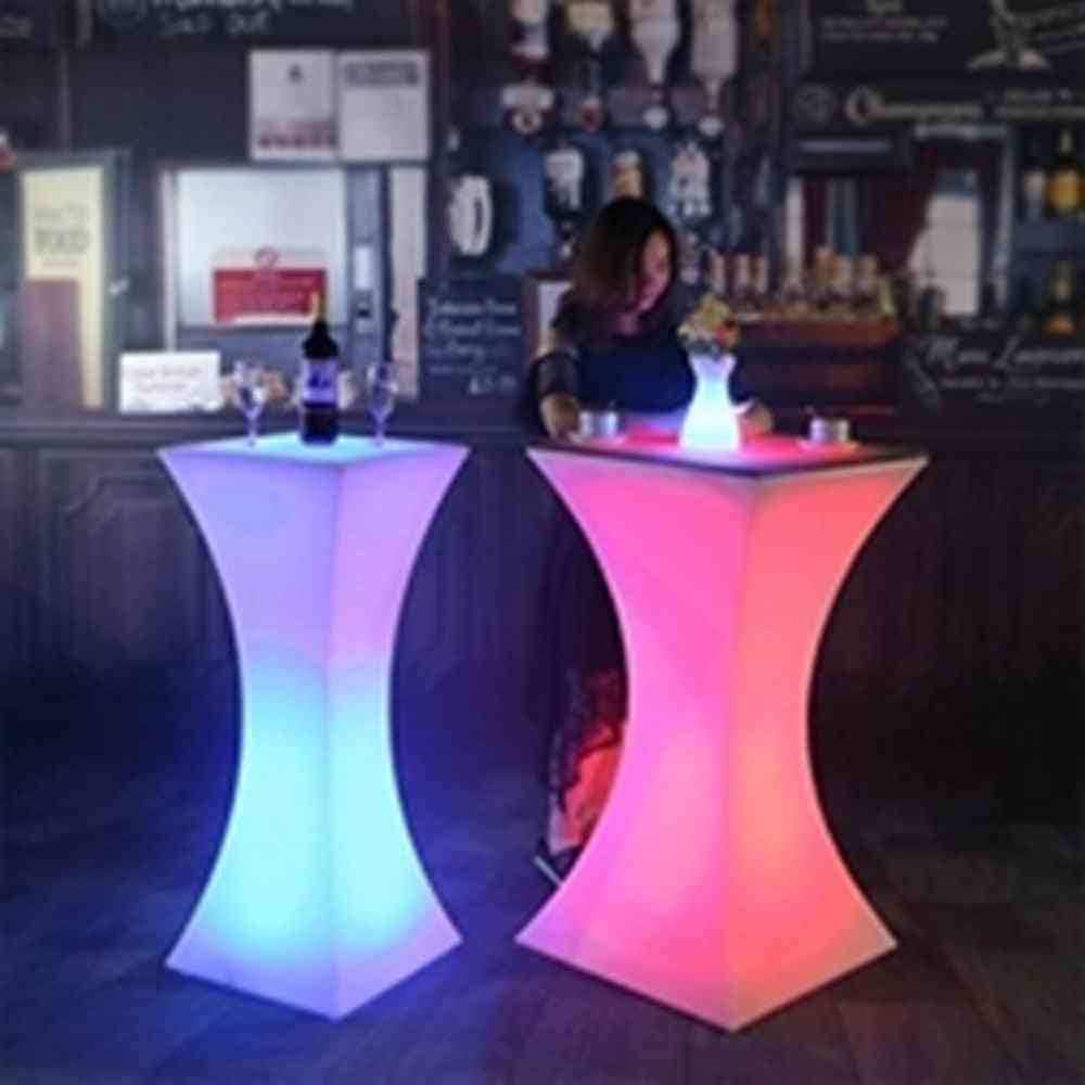 Height Led Lighted Up Cocktail Table