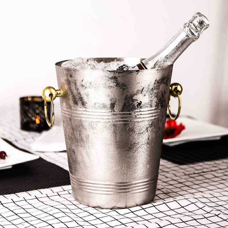 Stainless Steel Double Layer Ice Bucket