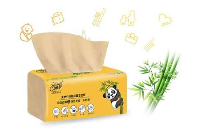 Bamboo Pulp Natural Tissue Paper