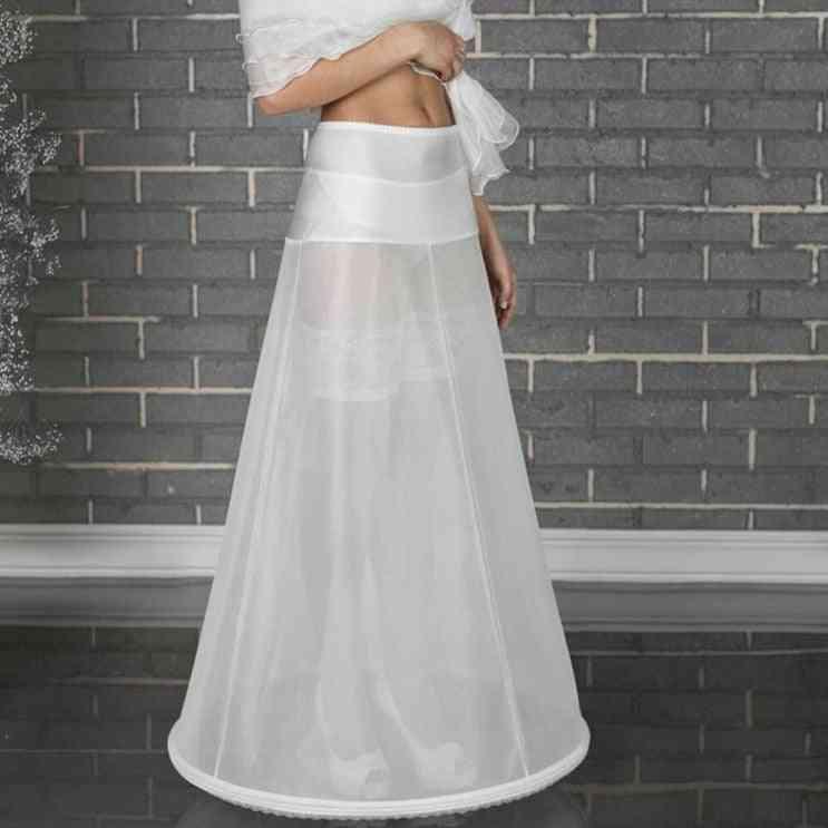 Hoop Bone Elastic Waist Petticoat For Bridal