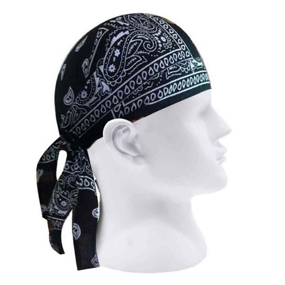 Men Paisley Print Motorcycle Biker Hat Bandana Headscarf