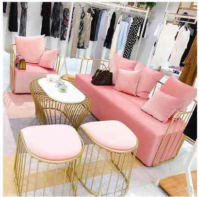 Nordic Iron Sofa Chair Beauty Salon