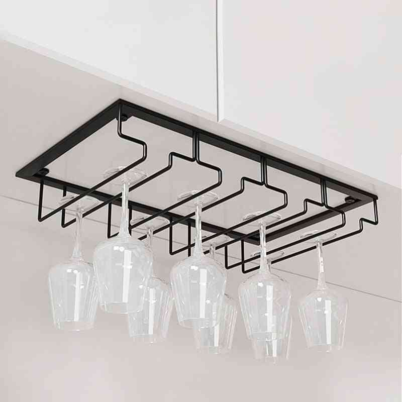 Home Cabinet Hanging Cup Storage Draining Rack