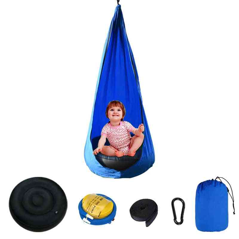 Kids Hammock, Garden Furniture Pod, Swings Chair, Indoor, Outdoor, Hanging Seat, Sensory Child Therapy, Swing Seat Patio