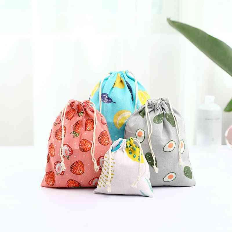 Cute Fruit Print Kids Travel Cloth Shoes Storage Bag