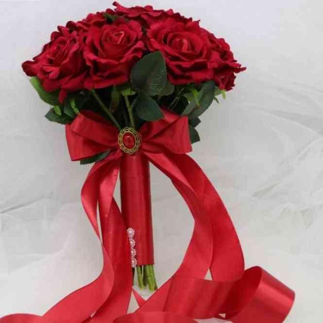 Red Wedding Bridal Bouquet Wedding Decoration