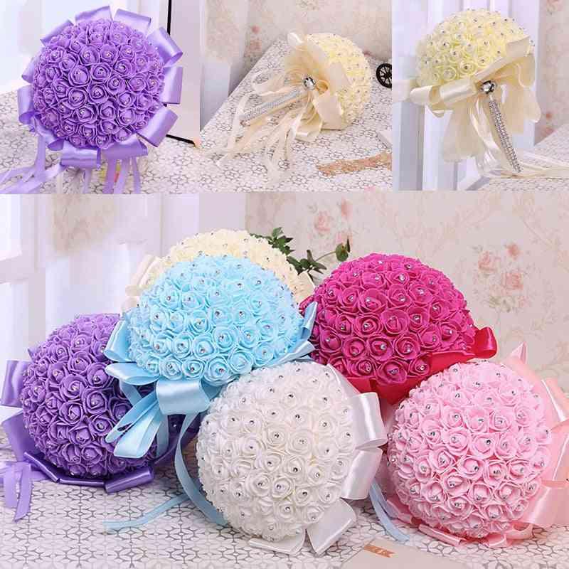 Handmade Beauty Foam Flower Bridal Bouquet
