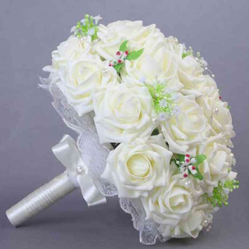 Rose With Pearls Bridal Bouquet