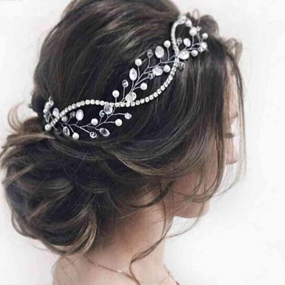 Wedding Crystal Silver Bride Headpieces