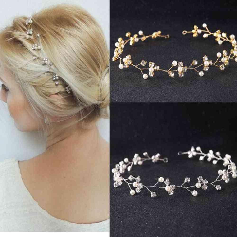 Wedding Gold Silver Rhinestones Headband