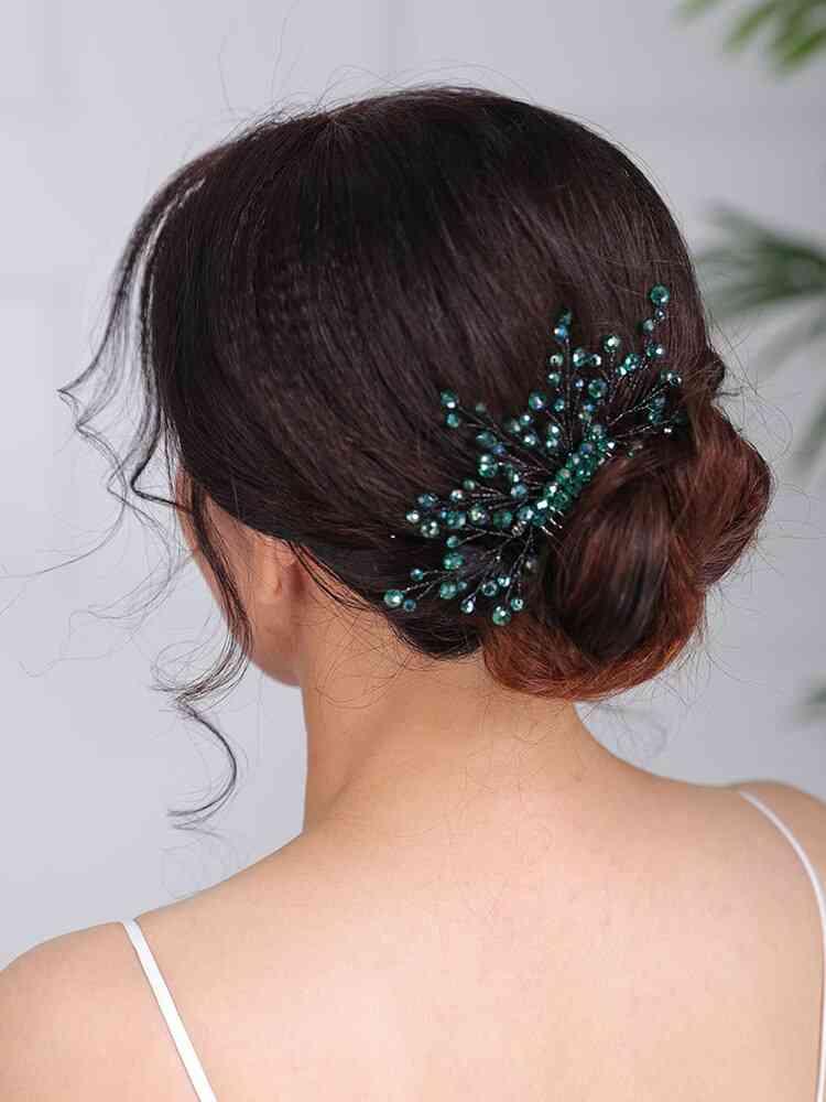 Casual Headpieces Green Hair Comb Handmade Wedding Hair Accessories