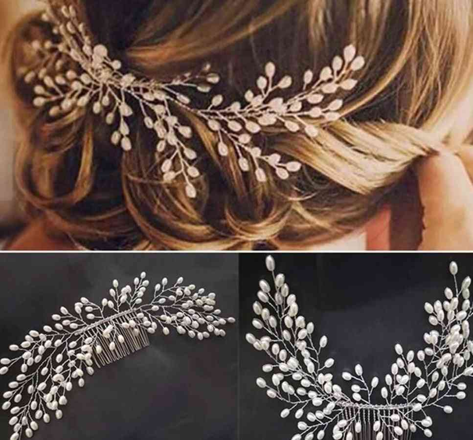 Jewelry Crystal Pearl Bridal Hair Clip Accessories