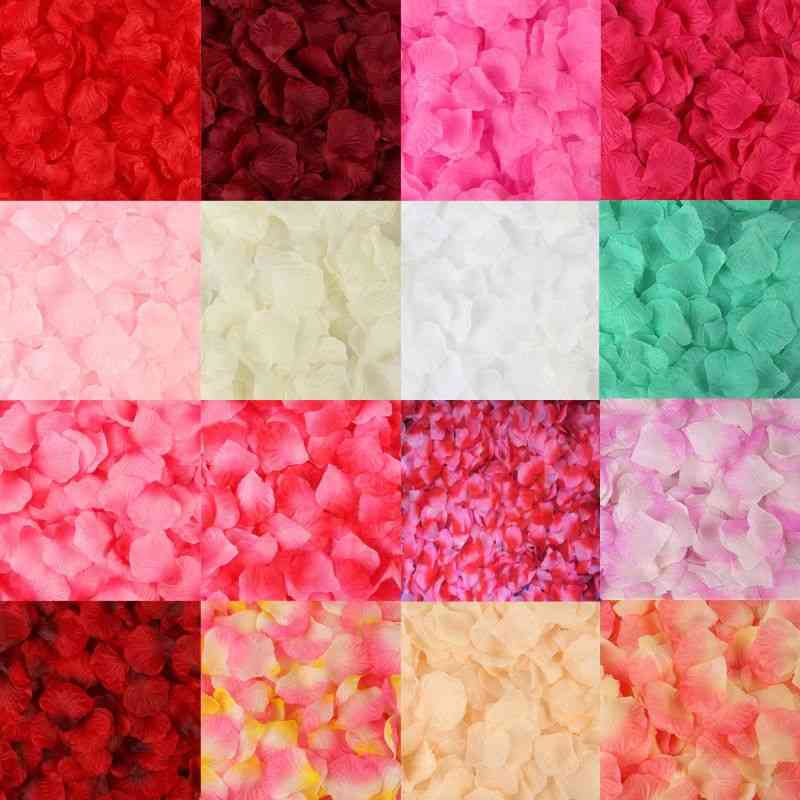 Colourful Artificial Rose Petals Flowers Wedding Party Decoration