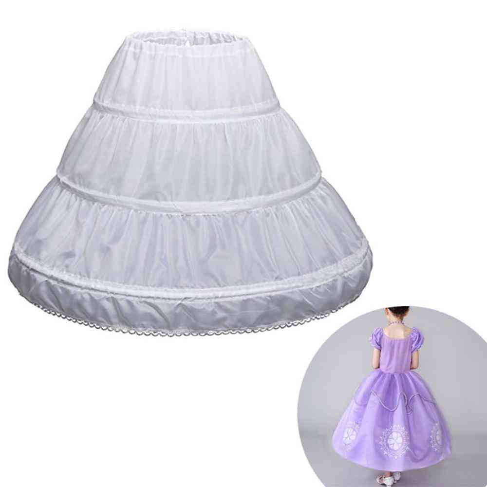 A-line 3 Hoops One Layer Anti White Petticoat