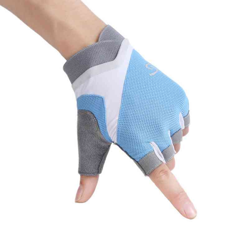 Gym Gloves, Women Weight Lifting Crossfit Workout Fitness Glove, Breathable, Bodybuilding Half Finger, Hand Protector
