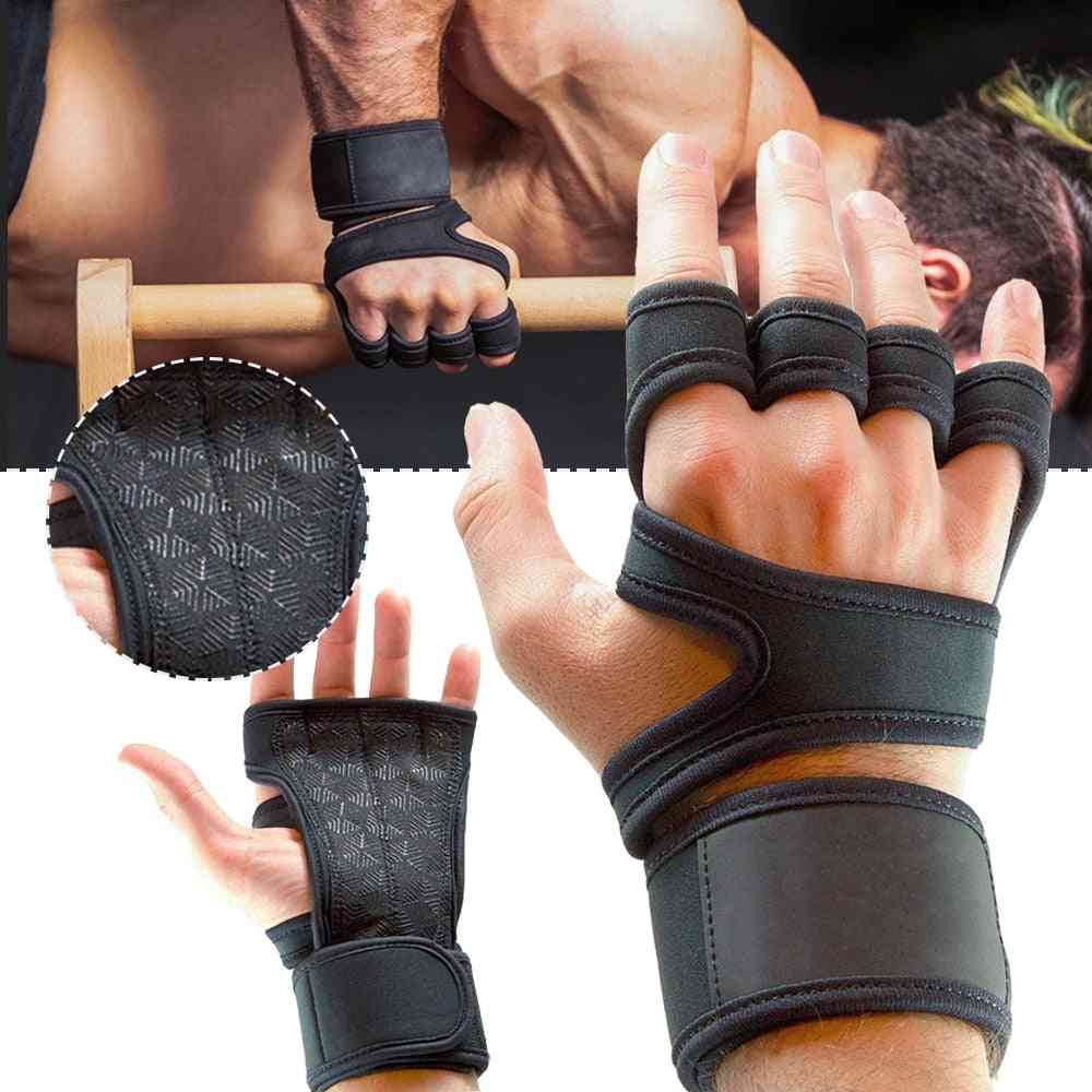 Weight Lifting Training Gloves For Women, Men Fitness Sports, Body Building Gymnastics Grips, Gym Hand Palm, Wrist Protector
