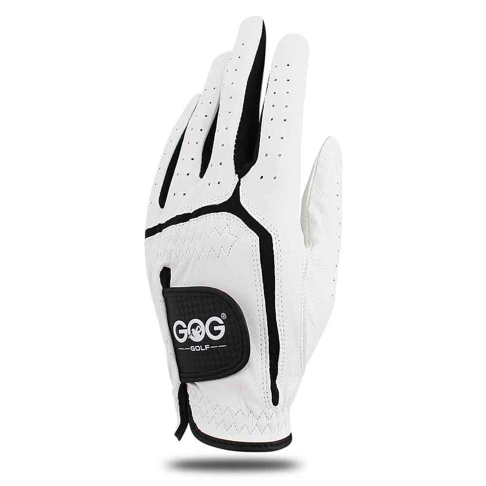 Golf Gloves For Men, Genuine Leather Breathable Glove