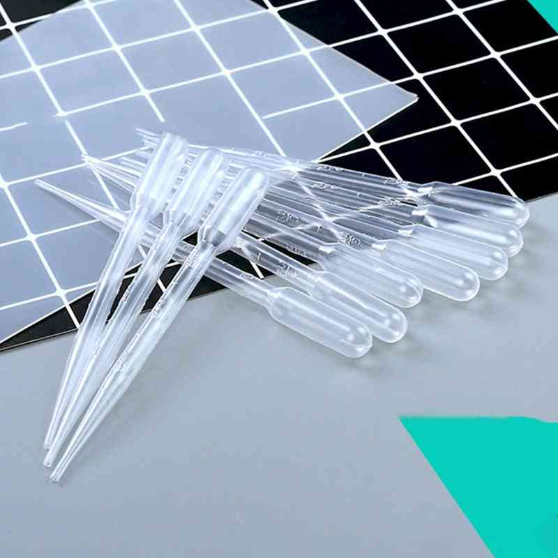 Plastic Droppers- Diy Crystal Epoxy Pipettes Soap Making Tool