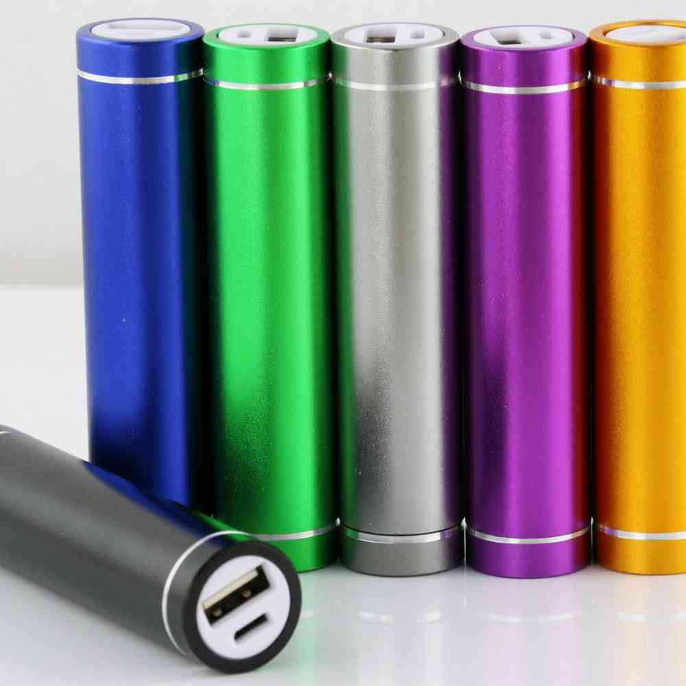 Multicolor Portable Power Bank Case With Usb Charging Port