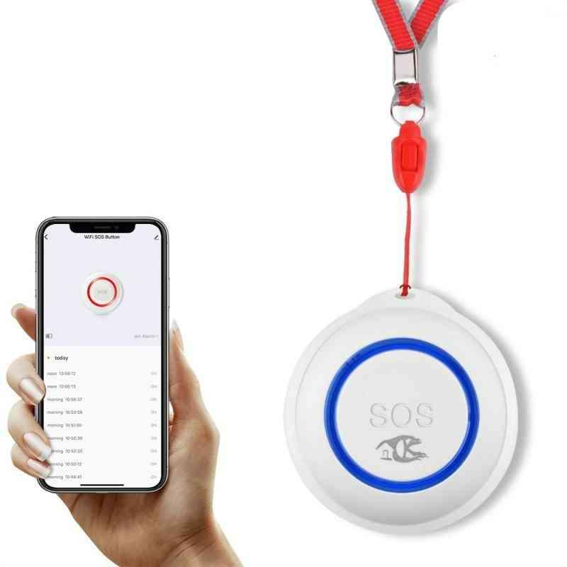 Wifi Sos Button Smart Wireless Sensor Elderly Emergency Help Alarm Switch Work