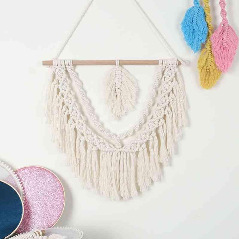 Newborn Baby Dreamcatcher Tapestry Woven Handmade Tassel Wall Hanging Pendant Home Kids Baby Bed Hanging