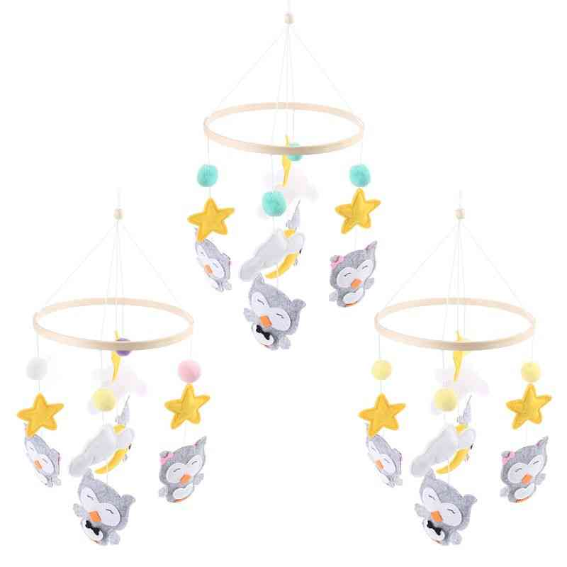 Newborn Baby Cute Cartoon Owl Pendant Wind Chime Infants Car Strollers Bed Hanging Decoration