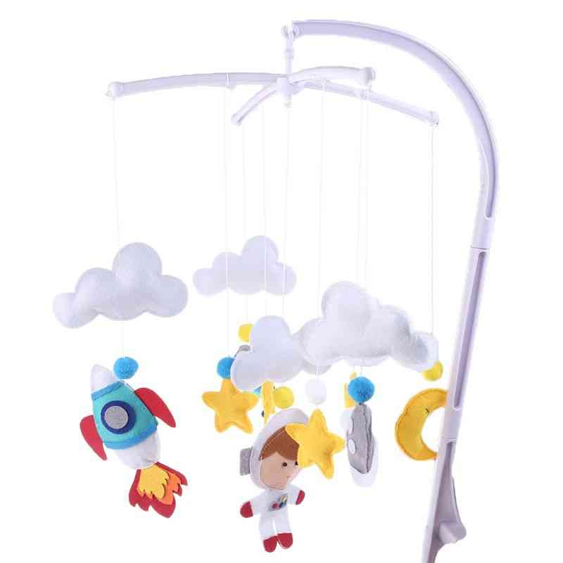 Baby Cloud Star Mobile Rattles Handmade Non-woven Bed Bell Wind Chimes Kid Room Bed Stroller Hanging Decoration